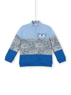 Lavendelblaues Colourblock-Sweatshirt für Kinder und Jungen LOBLESWE / 21S902J1SWEC208