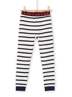 Blau-weiß gestreiftes Pyjama-T-Shirt und Hose für Jungen LEGOPYJBRA / 21SH1253PYJ001