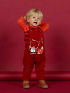 Roter Cord-Overall für Baby-Jungen mit Fantasie-Motiv MUFUNSAL1 / 21WG10M2SAL510