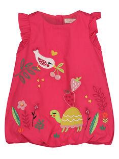 Babykleid aus Popeline für Mädchen FIYEROB3 / 19SG09M3ROB304