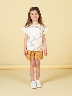 Kurzarm-T-Shirt mit Elefanten- und Blattdruck und gerafften Ärmeln LAPOETI2 / 21S901Y2TMC001
