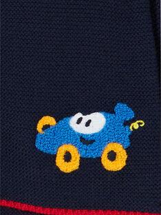 Fein gestrickte nachtblaue Weste für Kleinkinder LUHAGIL / 21SG10X1GIL713