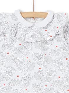 Bluse mit Volant und Leggings zur Geburt eines Mädchens LOU1ENS2 / 21SF03H1ENS000