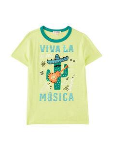 Kaktusgelbes kurzärmeliges T-Shirt für Jungen JOMARTI5 / 20S902P5TMC103