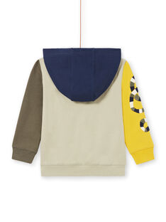 Farbblock-Kapuzenpullover für Jungen MOKAGIL / 21W902I1GIL612