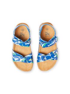 Baby Junge marineblau Sandalen mit Hai Druck LGNUREQUIN / 21KK3654D0E070