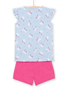 Blauer Schlafanzug für Mädchen LEFAPYJTET / 21SH11C3PYJC236