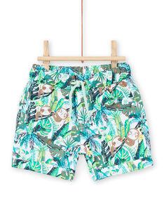 Baby Junge grün Dschungel Shorts LUVERBER1 / 21SG10Q1BER001