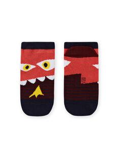 Gestreifte Socken für Jungen mit Dinosaurier-Muster MYOPASOQ / 21WI02H1SOQ719