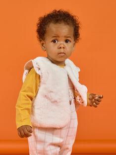 Weiße Kunstpelzweste für Baby Mädchen MISAUCAR1 / 21WG09P1CAR001