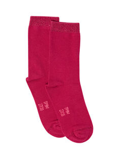 Socken für Mädchen fuchsia MYAJOCHO2 / 21WI0117SOQD312