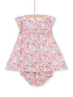 Rosa und orange Blümchen und Kleid mit Baby Mädchen Blumendruck LIVIROB2 / 21SG09U2ROB000