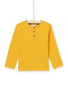 Gelbes Jungen-T-Shirt MOJOTUN2 / 21W90213TML113