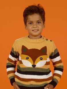 Gestreifter Chenille-Pullover für Jungen MOSAUPUL / 21W902P1PULB107