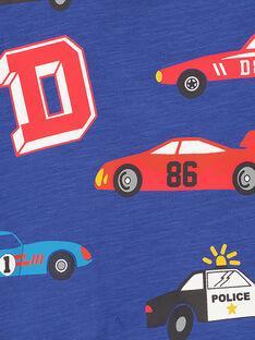 Marineblaues Rundhals-T-Shirt mit langen Ärmeln GOSANTEE3 / 19W902C5TML720