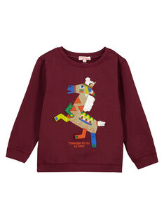 Bordeauxroter verspielter Sweater GOVIOSWE / 19W902R1SWM711