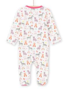Baby Mädchen Langarmshirt mit Tierprint, Regenbogen und Kronen MEFIGREANI / 21WH1333GRE001