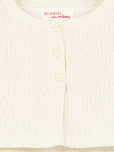 Goldene Lurex-Strickjacke für Mädchen GINOCAR2 / 19WG09V2CAR954