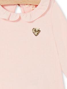 Rosa Baumwolle Baby Mädchen T-shirt LIJOBRA2 / 21SG0931BRAD326