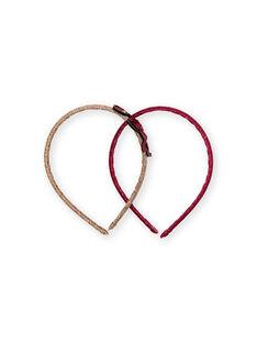2 goldene und rote Stirnbänder Kind Mädchen LYATERSERRE / 21SI01E2TETK008