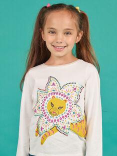 Mädchen-T-Shirt in Gelb und Ecru MATUTEE3 / 21W901K1TML001