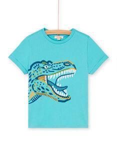 Türkisfarbenes T-Shirt für Jungen LOVERTI1 / 21S902Q1TMCC215