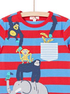 T-shirt kurze Ärmel blau Kind Junge LOVITI2 / 21S902U5TMC201