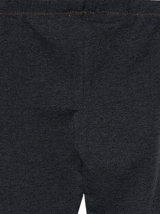 Dunkelgraue Mädchen-Leggings JYAESLEG3 / 20SI0161D26944