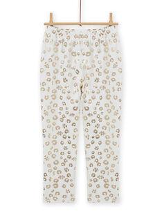 Samt-Pyjama-Set für Mädchen mit Leopardenmuster MEFAPYJFEL / 21WH1198PYJ001