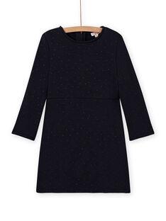 Marineblaues Fleece-Skaterkleid für Mädchen MAJOLROB1 / 21W901N3ROB070