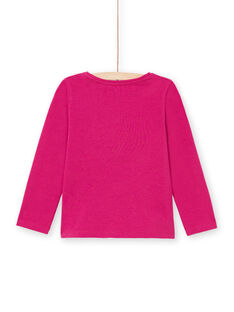 Mädchen-T-Shirt in Dunkelrosa MAJOYTEE7 / 21W90123TMLD312