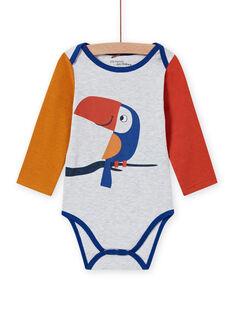 Baby Boy's mehrfarbiger Langarm-Bodysuit mit Tukan-Motiv MEGABODTOU / 21WH14C3BDLJ920