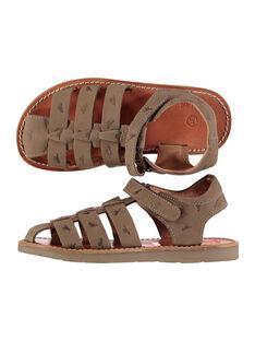 Sandalen aus Leder für draußen Jungen FGSANDINO2 / 19SK36C2D0E803