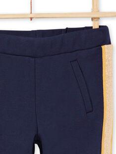 Nachtblau gestreifte Hose für Mädchen MAJOMIL1 / 21W90117PANC205