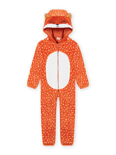 Schlafanzug mit Kapuze aus Kunstfell für Mädchen MEFASURFOX / 21WH1192D4F420