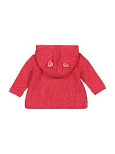 Baby-Strickjacke mit Kapuze für Mädchen FIBAVEST1 / 19SG09X1VES308