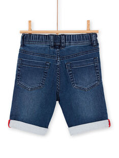 Blaue Jeans Bermudashorts Junge Kind LOVIBER1 / 21S902U1BERP274