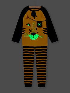 Tiger-Pyjama-Set für Jungen mit leuchtenden Details im Dunkeln MEGOPYJLION / 21WH1281PYJB107