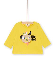 Gelbes Baumwoll-T-Shirt Baby Junge LUNOTEE2 / 21SG10L2TML106