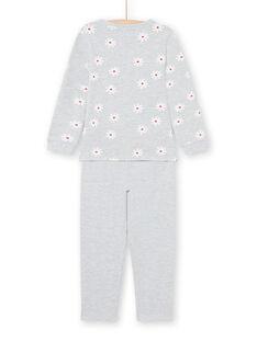 Graues T-Shirt und Hose Pyjama-Set für Mädchen MEFAPYJDOG / 21WH1185PYJ943