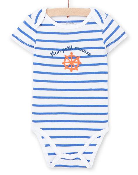 Weißer Baby-Jungen-Druck-Bodysuit LEGABODMOU / 21SH14G1BDL000