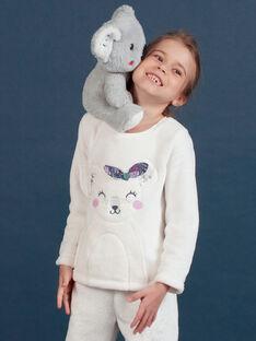 Weiches Boa-Pyjama-Set für Mädchen mit Koala-Print MEFAPYJKOA / 21WH1199PYJ001