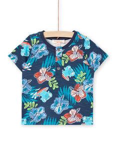 Kurzarm-T-Shirt Baby Junge blau LUBONTUN / 21SG10W1TMC717