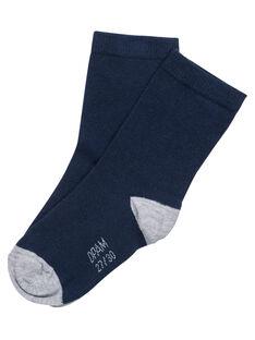 Marineblaue und graue Socken für Jungen JYOESCHO3 / 20SI0265SOQ070