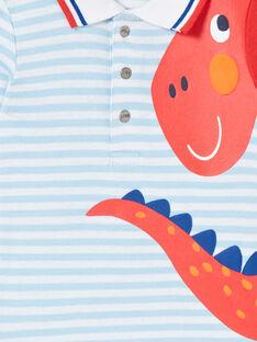 Baby Junge blau gestreiften Strampler LUCANBOD / 21SG10M1BOD000