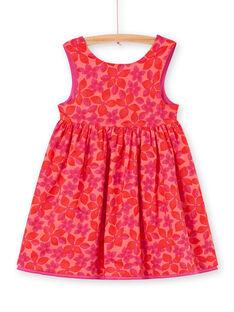 Wendbares Kleid mit rotem und rosa Blumendruck LAVIROB2 / 21S901U3ROB419