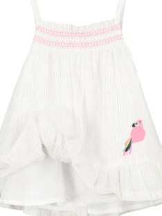 Babykleid mit Trägern für Mädchen FICUROB4 / 19SG09N4ROB000
