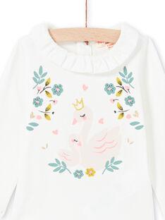 Baby Mädchen ecrufarbener Bodysuit MIKABOD / 21WG09I1BOD001
