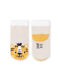 Baby Junge weiß und gelb gestreifte Socken LYUBALCHO / 21SI10O1SOQ000