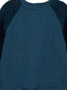 Tannengrünes Sweatshirt mit gefütterten Ärmeln GOTUSWE / 19W902Q1SWM707